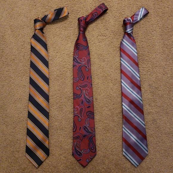 db5a516adee3 Bruno Piattelli Accessories | Roma 3 Neck Tie Lot Extra Long | Poshmark